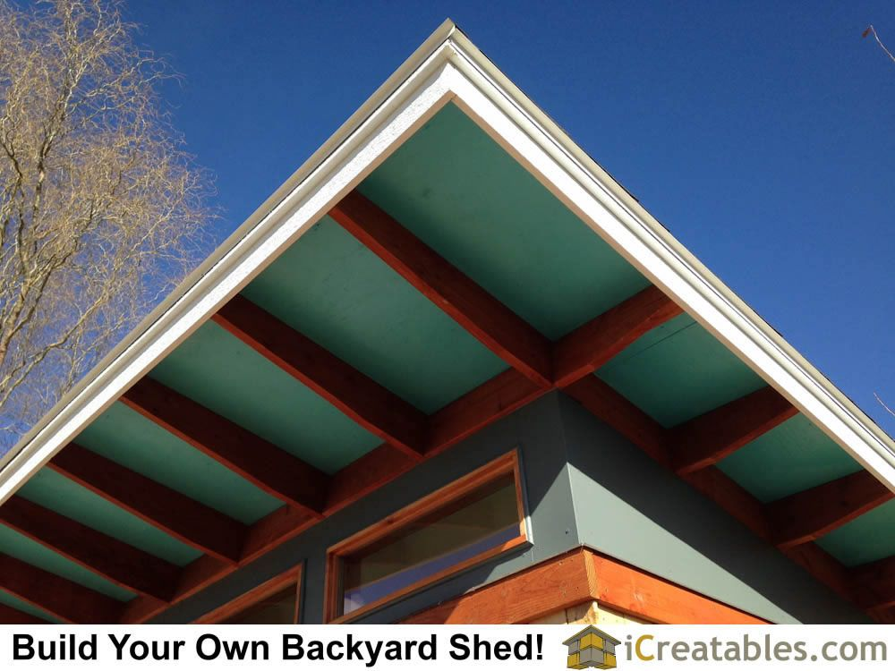 Roof Detail On Modern Shed With Long Overhangs Modern Shed Small Shed Plans Shed Plans