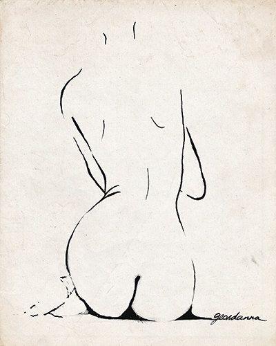 Original Sketch Ink by GlamLambCreations