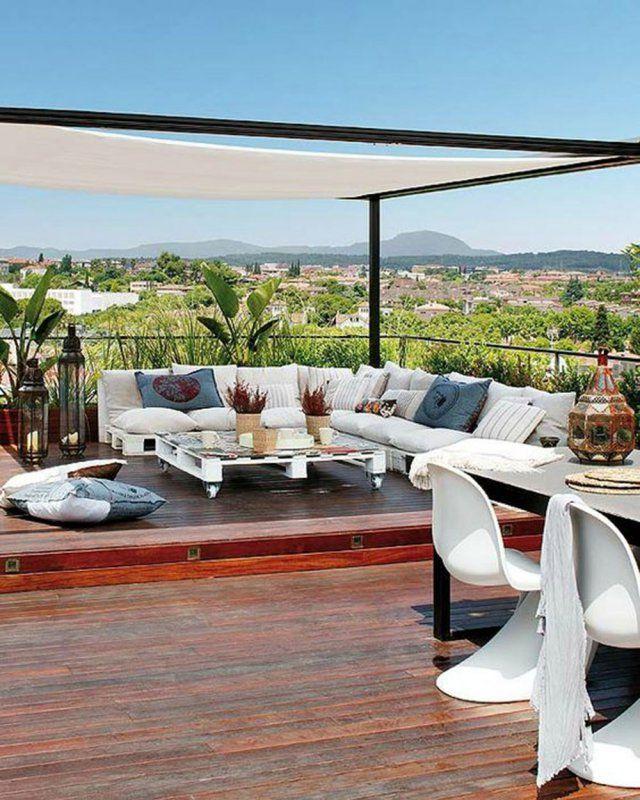 diviser une terrasse en deux espaces nos id es d co maison pinterest maison appartement. Black Bedroom Furniture Sets. Home Design Ideas