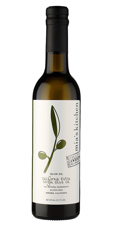 Mia S Kitchen California Extra Virgin Olive Oil 12 7 Oz Bottle S