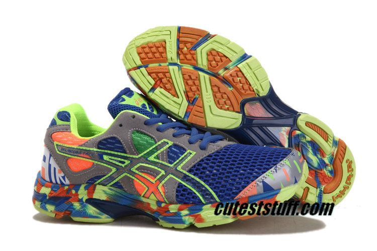 Asics Gel Noosa Tri 7 Mens Royal Blue Volt Grey Orange