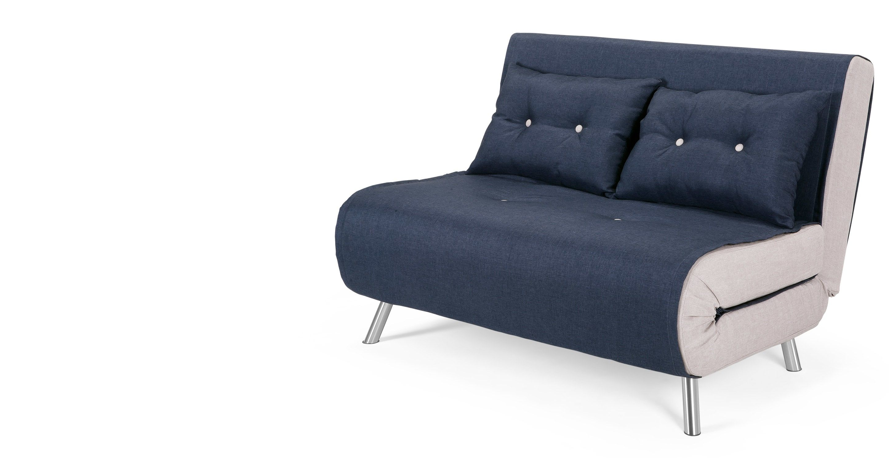 Keep your home guest ready even if youre short on space with the haru small sofa bed in quartz blue