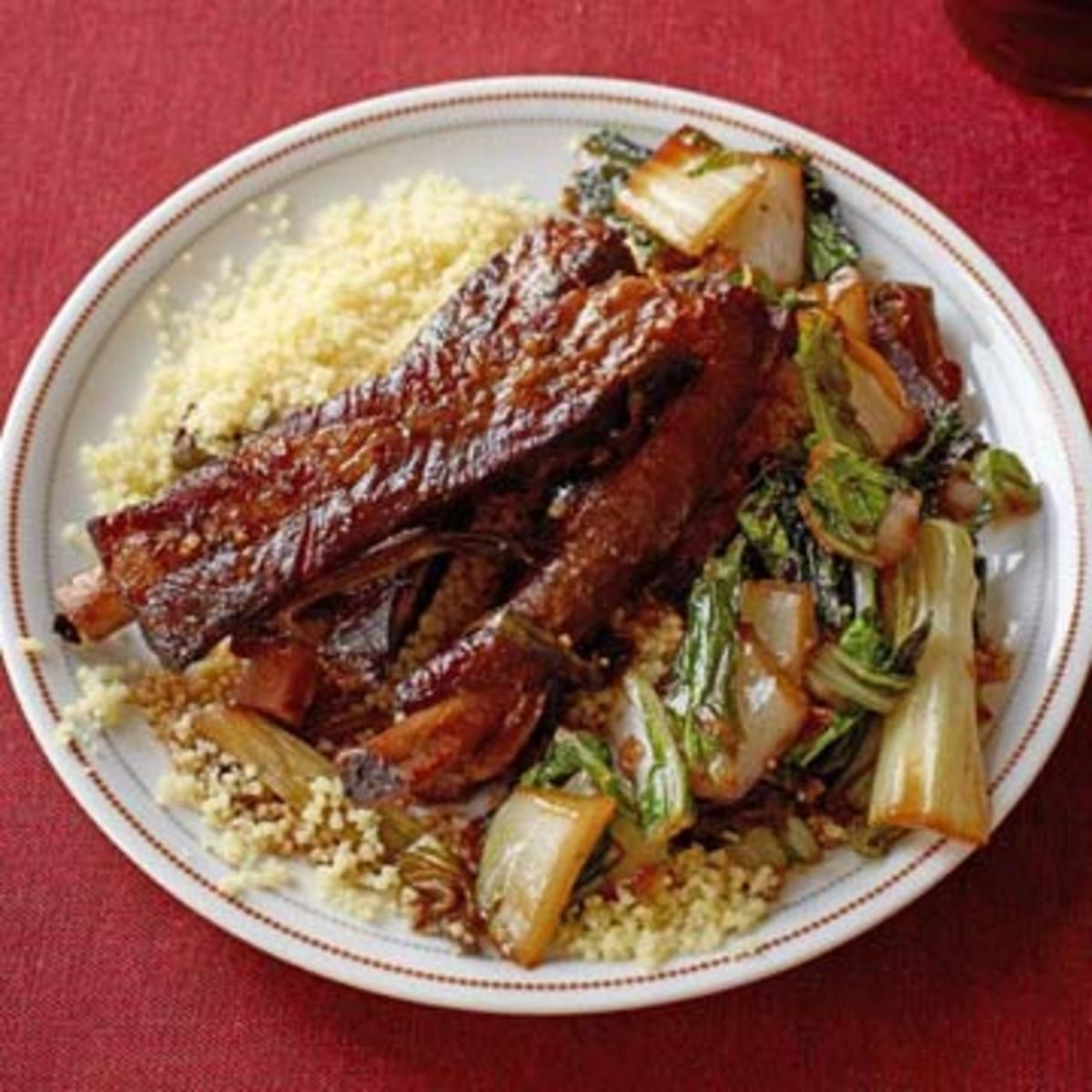 Braised Pork Ribs with Bok Choy