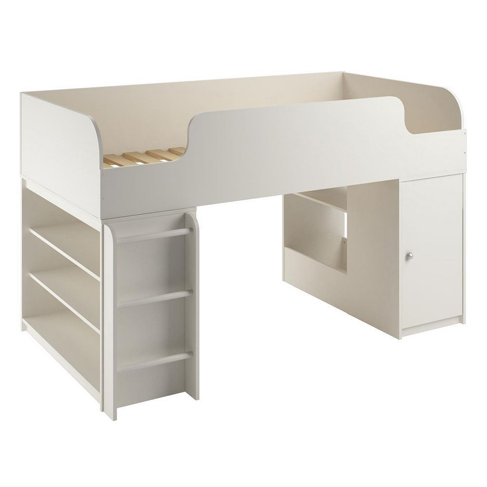 Loft bed with desk dresser  Cosco Elements Bookshelf u Toy Box Loft Bed Brown  Toy boxes and Toy