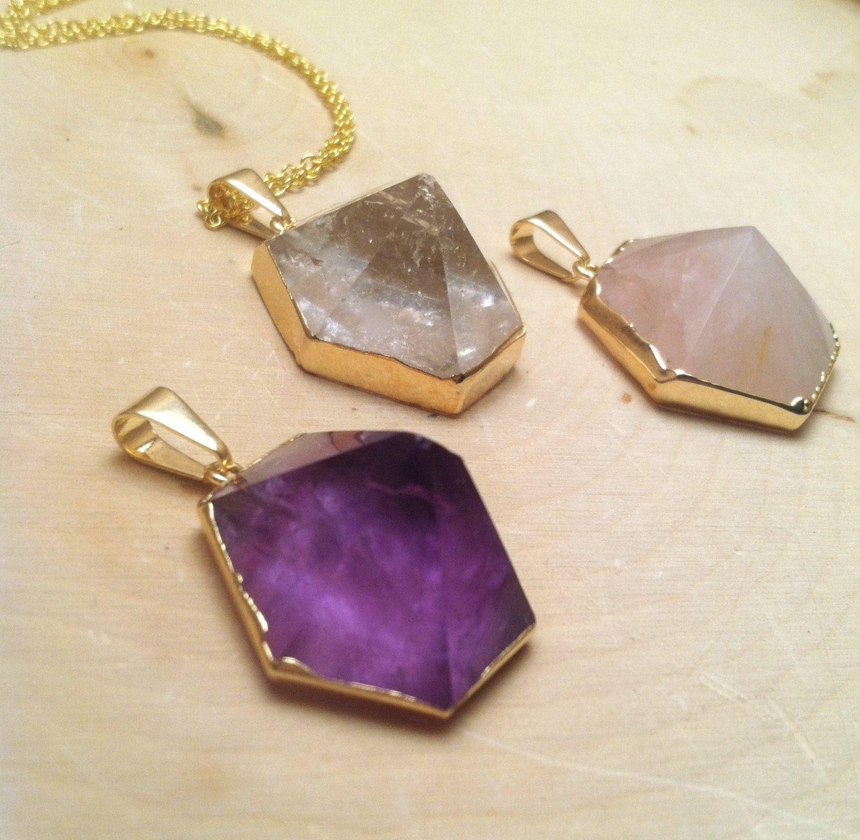 Healing Crystal Pyramid Necklaces