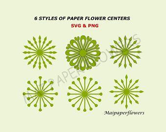 Flower Center Template, Paper Flower Center, Flower Center Svg, Paper Flower Stamen, Giant Paper Flower Centers, Flower Stamen Svg #largepaperflowers