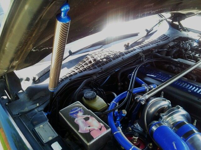 Carbon Fiber Hydrodipped Hood Strut Strut Bar And Anime Cover