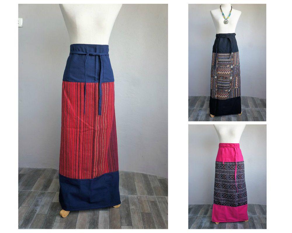 7a484b5c84 Thai Traditional Wrap Skirts - Sarongs - Hand Woven Cotton - Maxi - Full  length #thaisarong #wovencotton #blackfriday #thaitraditional