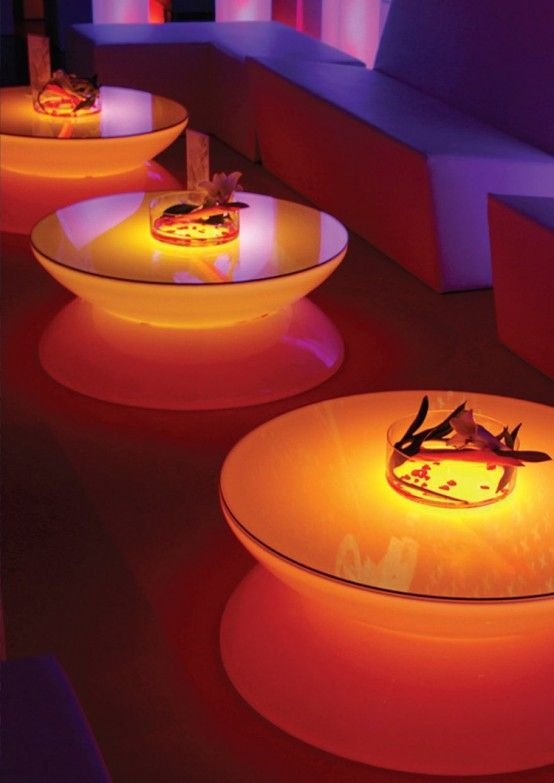 Neon Table Light: Translucent LED Light Tables