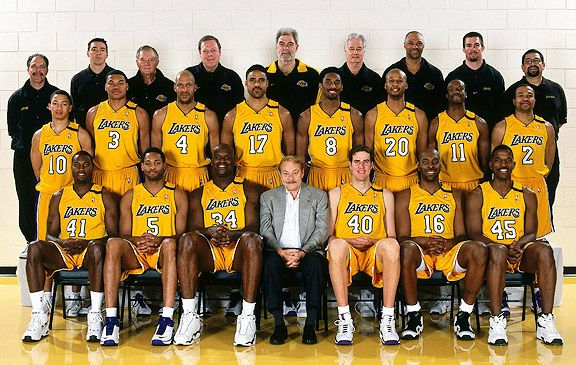 1999 2000 Laker Championship Team Lakers Los Angeles Lakers Basketball Lakers Championships