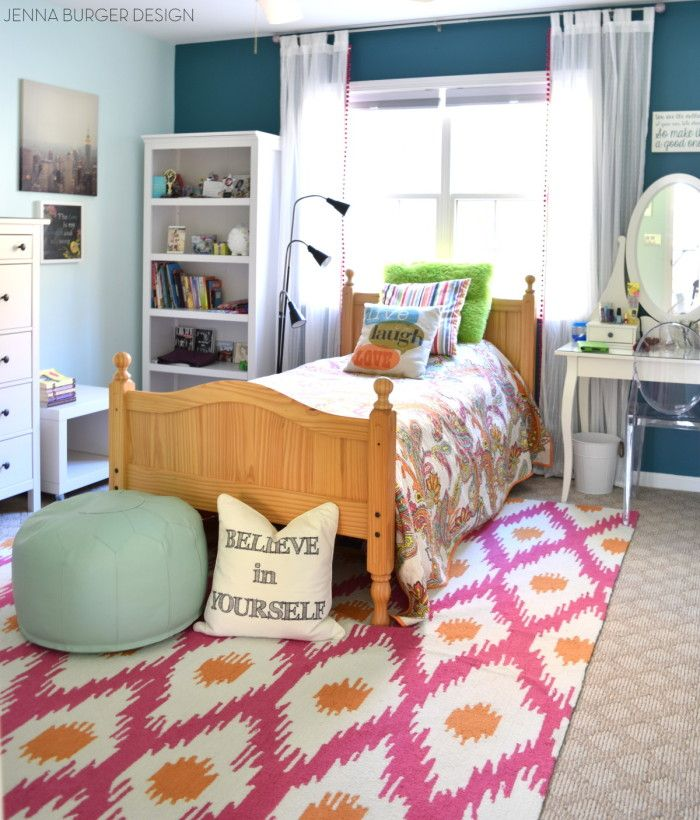 Marvelous Teen Bedroom Makeover Reveal With Hues Of Turquoise + Mint + Fuchsia And  Layers Of Texture Filled With Creative DIY Projects!