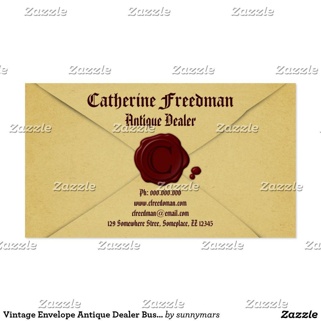 Vintage Envelope Antique Dealer Business Cards | Antique Shop Ideas ...