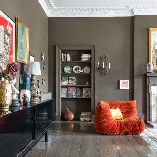 Living Room Painted In Bedford Brown Victorian Living Room