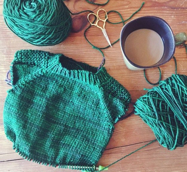 What I'm Knitting Now: Tin Can Knits Flax Sweater - oysters and pearls