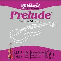 D'Addario Prelude Violin A String 1/2 by D'Addario. $2.99. Prelude strings feature solid high-carbon steel cores. Damping fluid is inserted between windings to reduce unwanted overtones. The finest sounding and playing student-grade strings available.