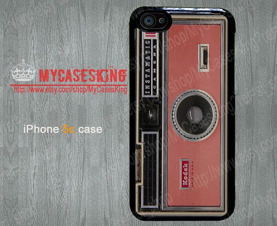 Camera iPhone 5c case Coral iPhone5c case vintage Camera iPhone5c case iPhone 5c Hard/Rubber case-Choose Your Favourite Color by MyCasesKing, $6.99