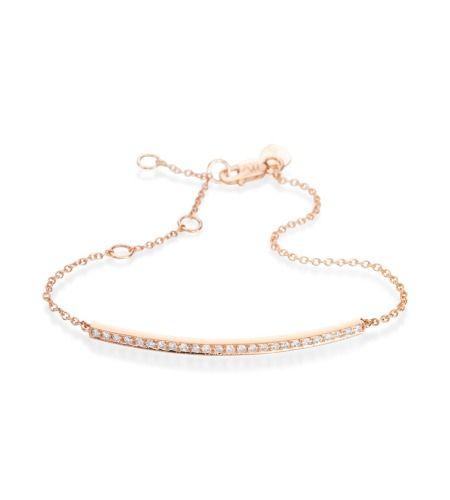 Meira T Flexible Bracelets 14K Rose Gold Diamond Bracelet