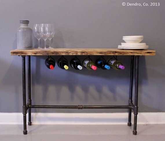 Bar table with wine rack Would coordinate with a similarfinished