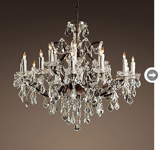 Crystals Mix With New Old Tech With These Electric Chandeliers Designed To Mimic Candleligh Restoration Hardware Chandelier Round Chandelier Crystal Chandelier