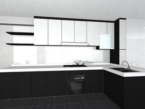 Permanent link to Black and White Kitchen Design Pictures | Kitchens ...
