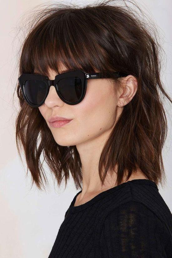 Schokobraun Hair Styles Short Hair Styles Hair Lengths