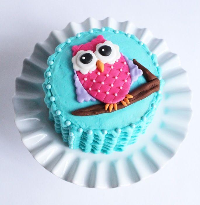 Owl birthday cake topper Sloppy bean recipes Pinterest Owl