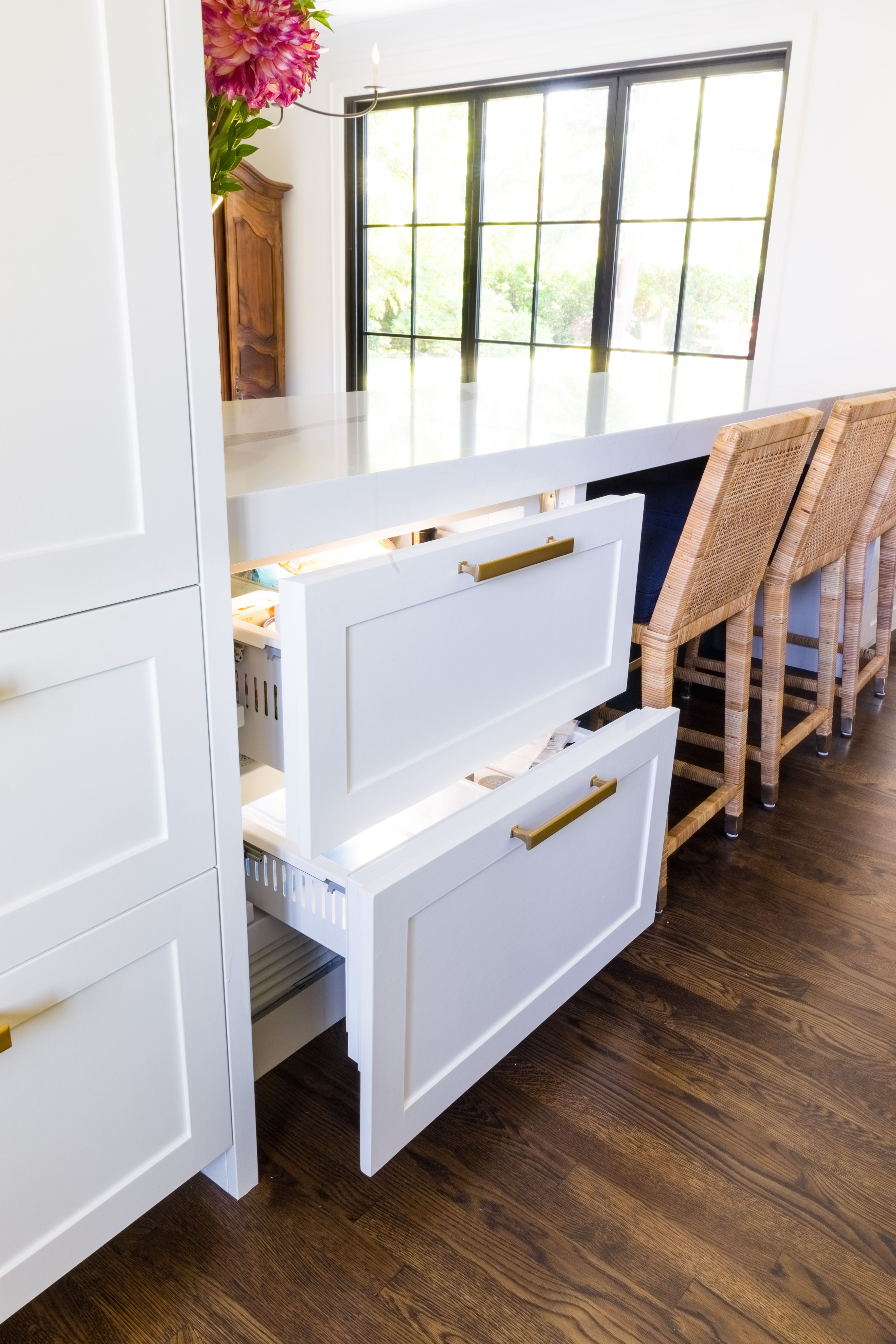 Two Freezer Drawers Disguised As Cabinets From A Whole House
