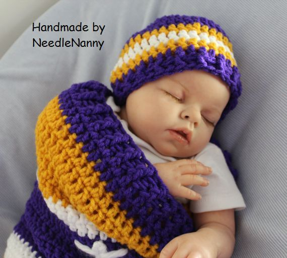 e397f0b6 Minnesota Vikings, Baby Cocoon, Swaddle Sack Newborn Clothing Photo ...