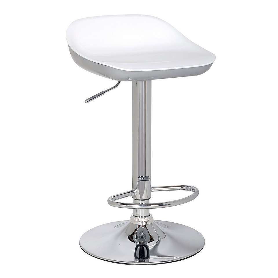 4857b58a7f0 Roma Adjustable Gas Lift Bar Stool - Silver