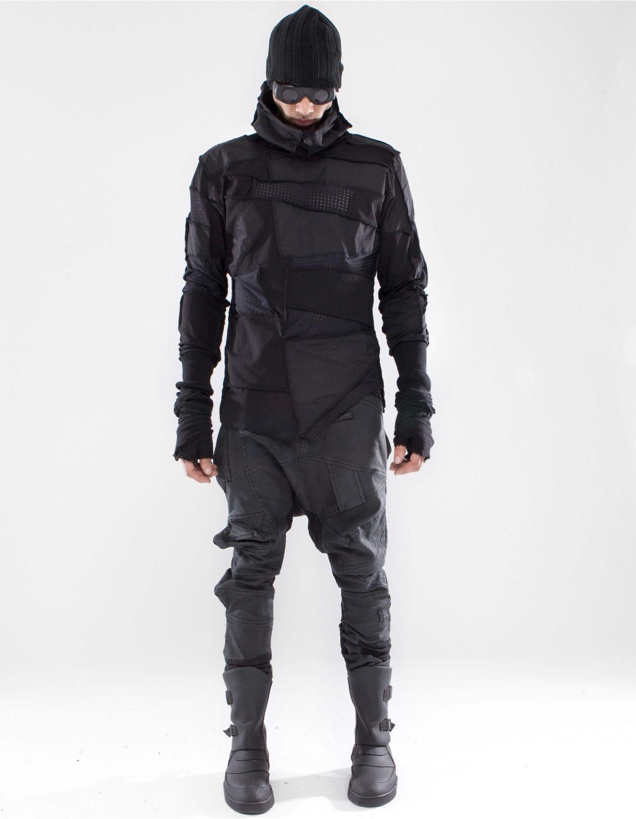 e94fbf500ee08 TOP ATTACKER Cyberpunk Clothes, Cyberpunk Fashion, High End Fashion, Dark  Fashion, Men