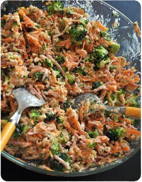 Salade de riz complet aux petits légumes | Salade de riz ...