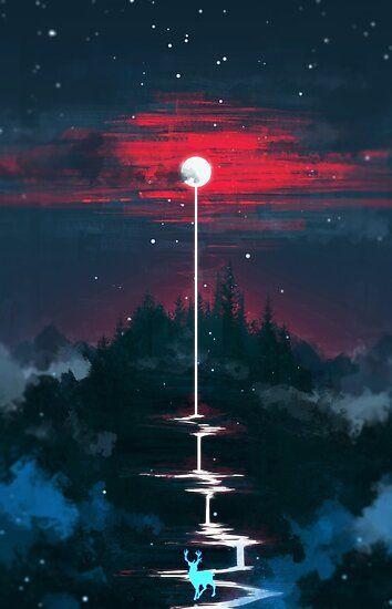 Lunar Dripping Poster by SeerStuff