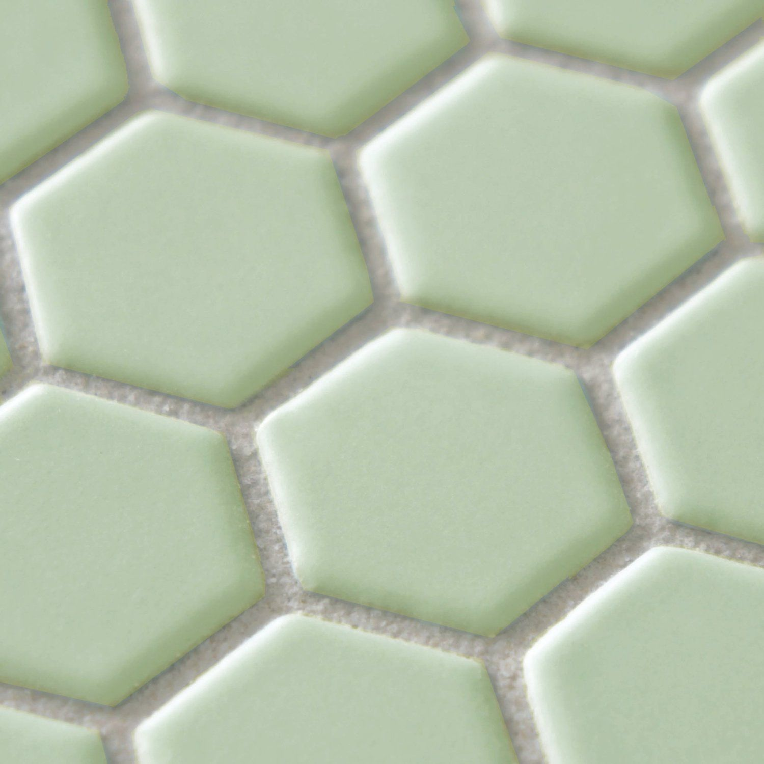 Retro Hex Matte Light Green 10 1 4 X 11 3 4 Inch Porcelain Floor Wall Tile 10 Pcs 8 4 Sq Ft Per Case Porcelain Mosaic Floor And Wall Tile Mosaic Flooring
