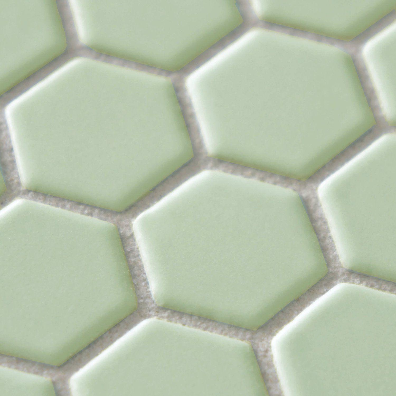 Retro hex matte light green 10 14 x 11 34 inch porcelain floor retro hex matte light green 10 14 x 11 34 inch porcelain dailygadgetfo Gallery