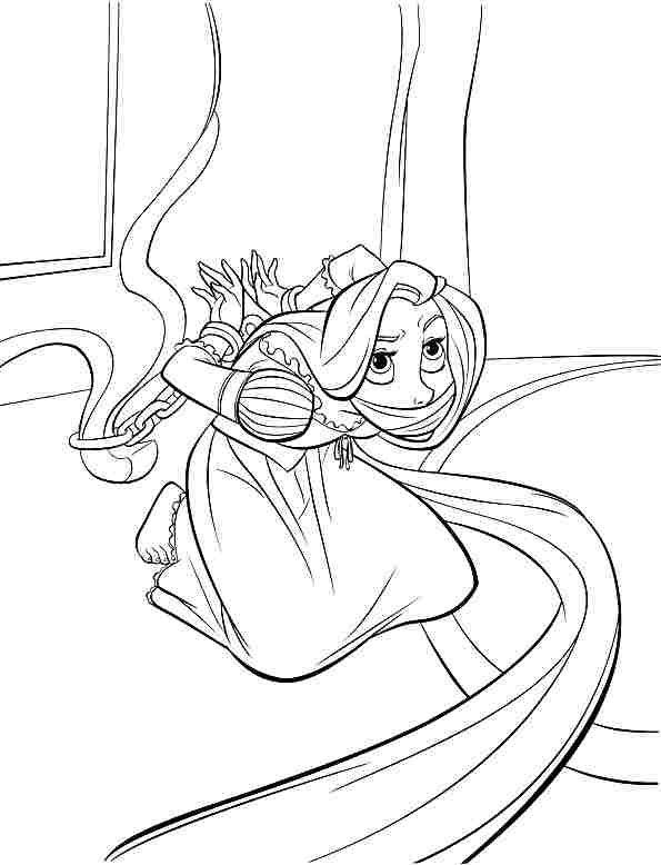 printable free disney princess tangled rapunzel coloring