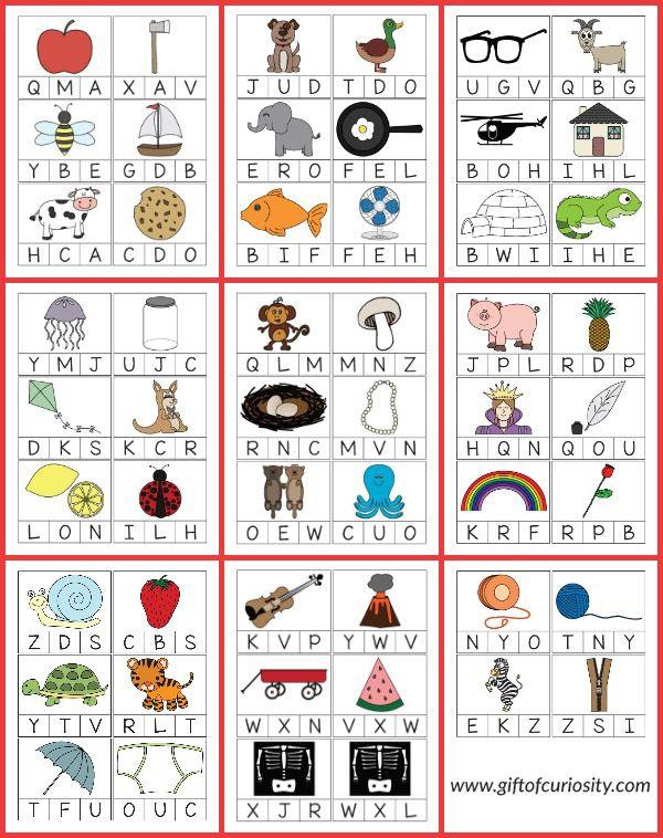 Beginning Sounds Alphabet Clip Cards {101 Ways to Teach