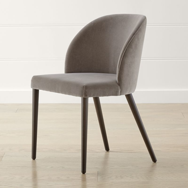 Camille Taupe Italian Dining Chair Reviews Crate And Barrel