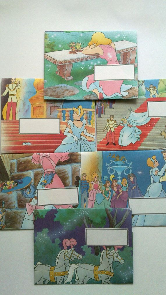 recycled envelopes from Cinderella book.  Mail Art #mailart