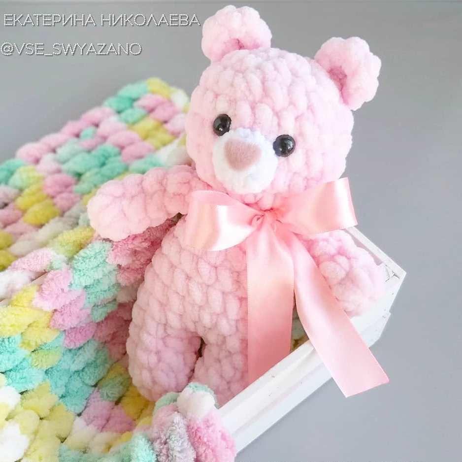 Crochet plush teddy bear pattern | Amiguroom Toys