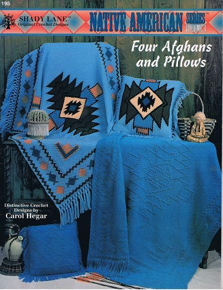 Native American Afghans And Pillows Crochet Patterns Craft Leaflet