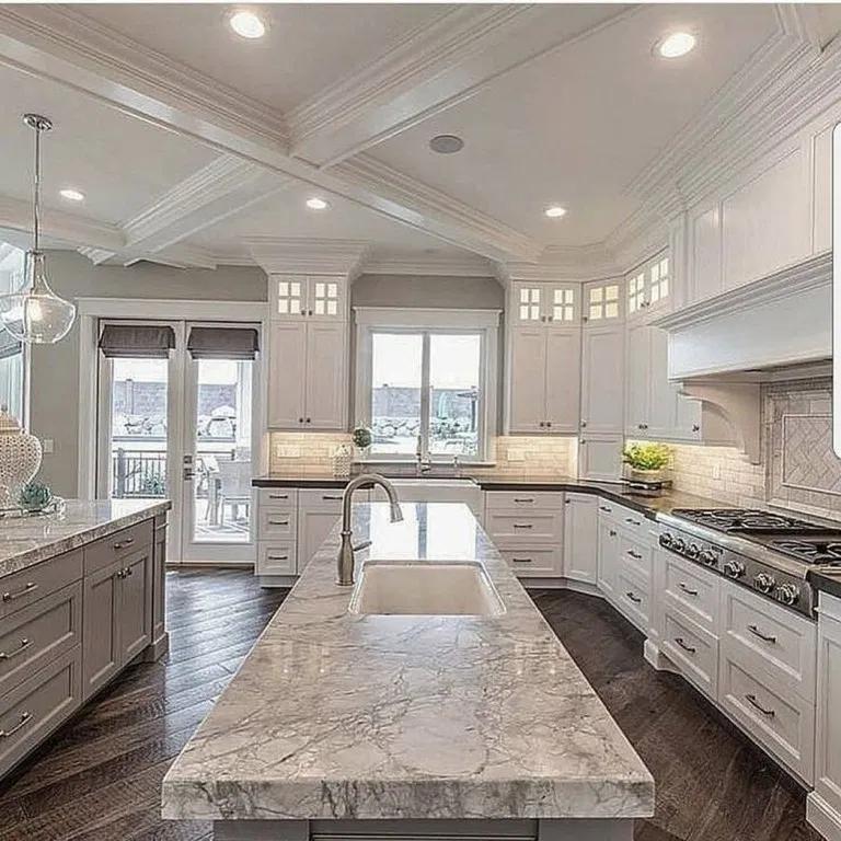 10 Kitchen Luxury Design Modern Dream Home Ideas For 2020 Dream Kitchens Design Interior Design Kitchen White Kitchen Design