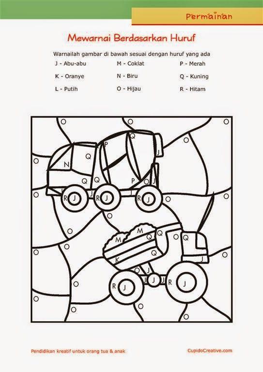 Permainan Anak Paud Balitatk Mewarnai Sambil Belajar Membaca