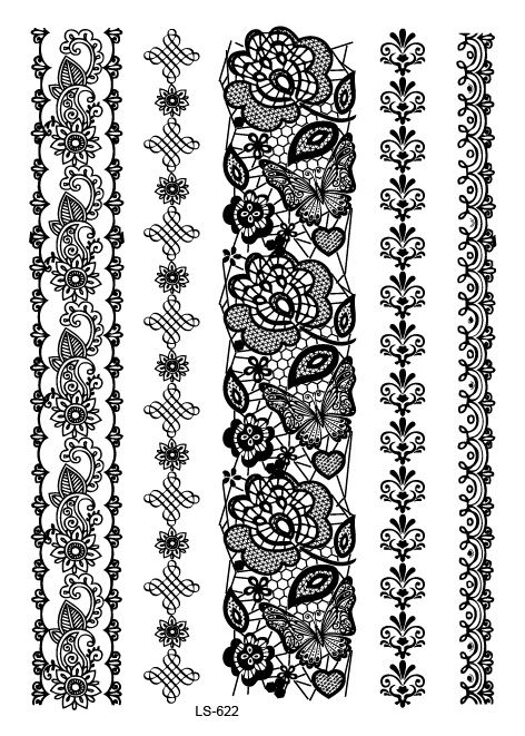 Photo of Temporary tattoo sticker: henna temporary tattoo henna fake tattoo sticker