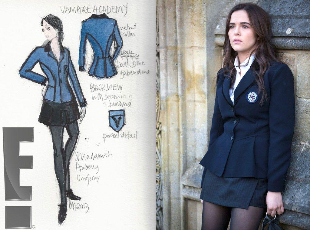 Conhecido Exclusive! Vampire Academy's Costume Sketches PZ88