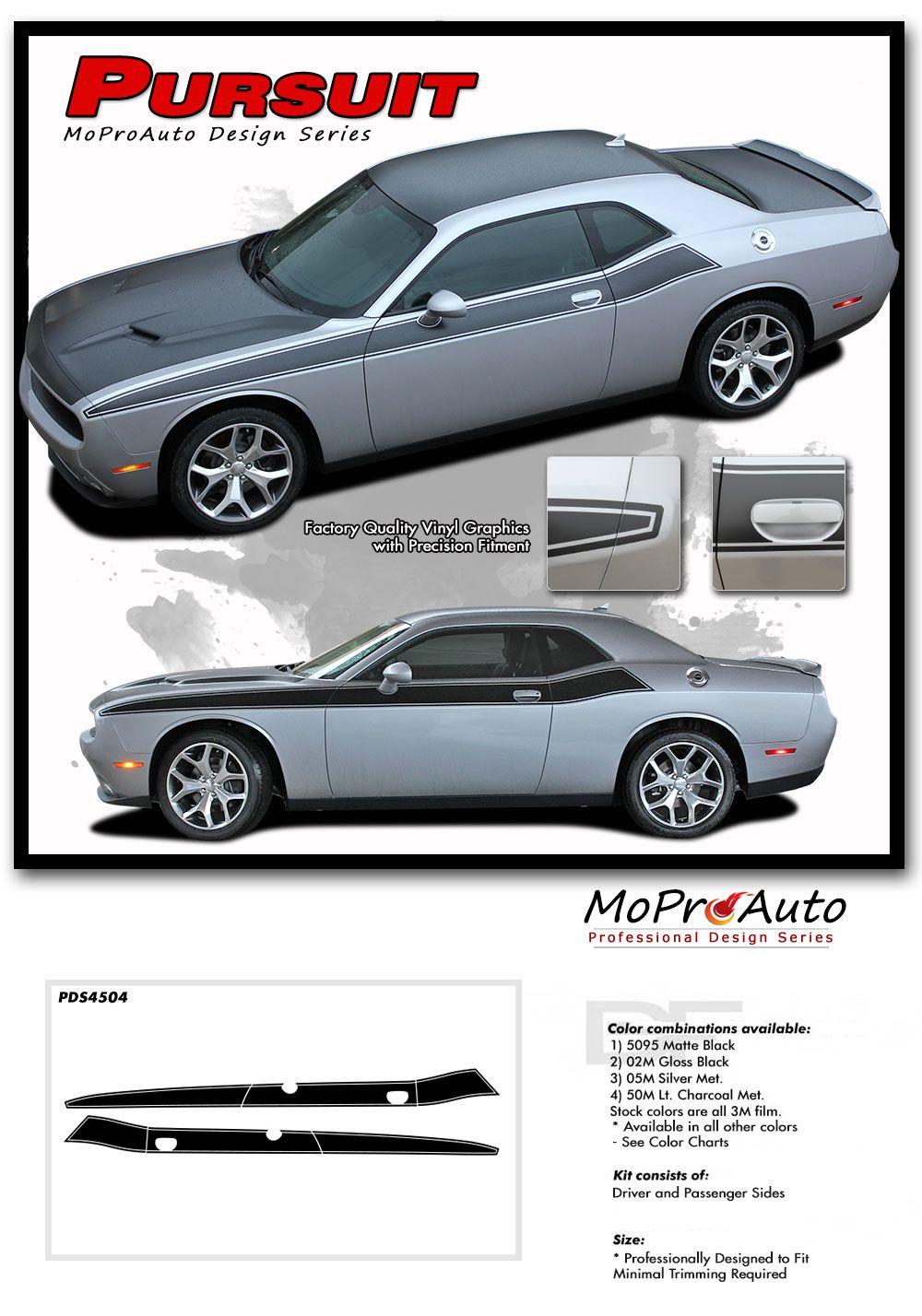 Dodge Challenger 2009-2018  side vinyl Decal RT Stripe Complete Graphic Kit