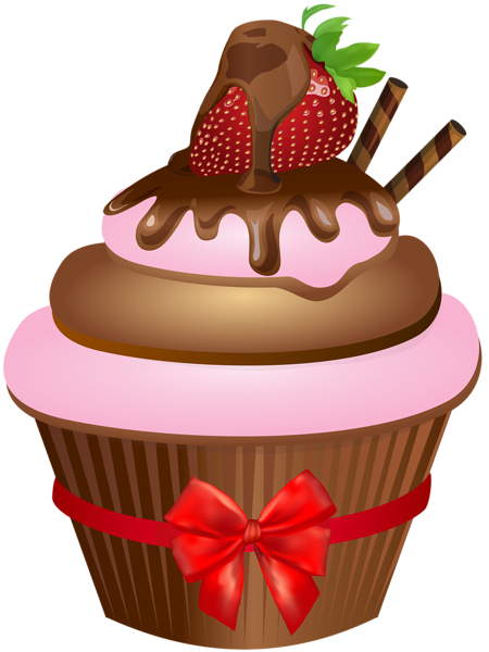 Chocolate Muffin With Strawberry Png Clip Art Image Chocolate Muffins Cupcake Illustration Cupcake Art