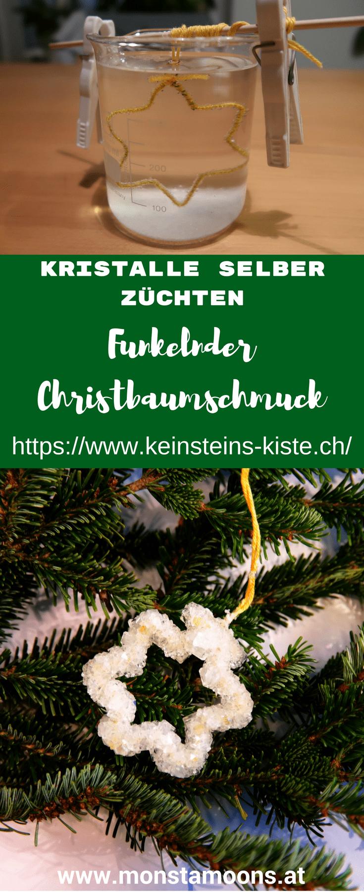 Funkelnder Christbaumschmuck – Kristalle selber züchten #christbaumschmuckbastelnkinder