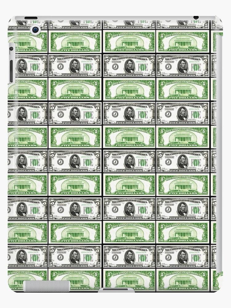 Five Dollar Bills Ipad Retina 3 2 Snap Case By Impactees Dollar Bill Ipad Models Lip Designs