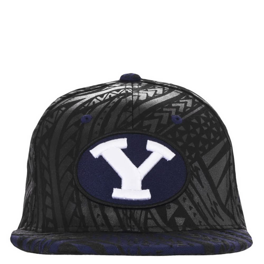 Oval Y Kahuku Flat Bill Byu Hat Zephyr Bags Gifts Embroidered