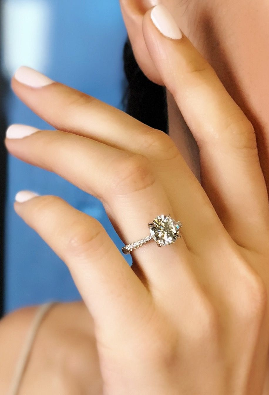 Round diamond solitaire engagement ring in platinum our favorite